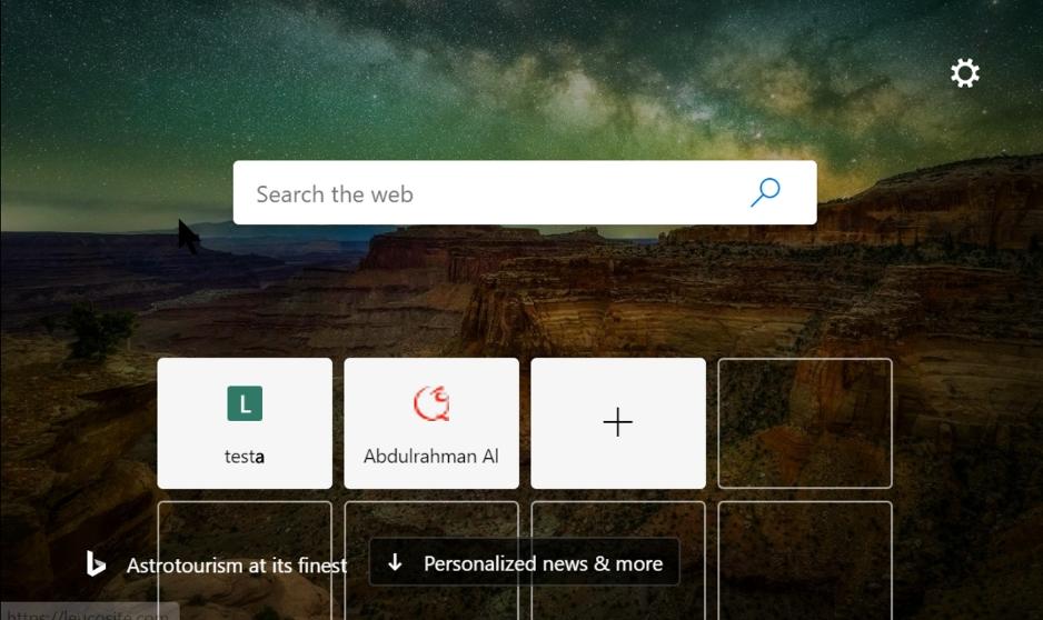 Neuer Tab im Edge-Browser
